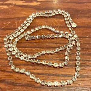 "34"" long vintage pretty rhinestone necklace"